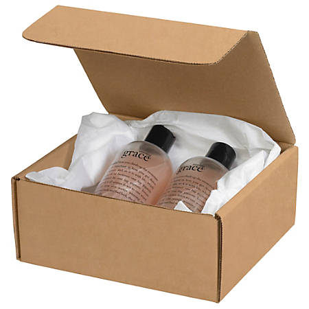 "Office Depot® Brand Literature Mailers, 7 1/2"" x 7"" x 3 1/4"", Kraft, Pack Of 50"