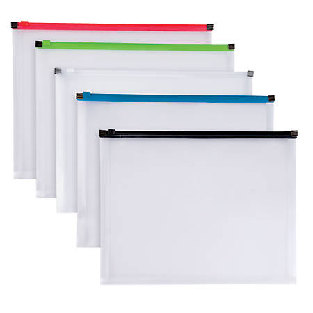 Office Depot® Brand Poly Zip Envelope, Letter Size