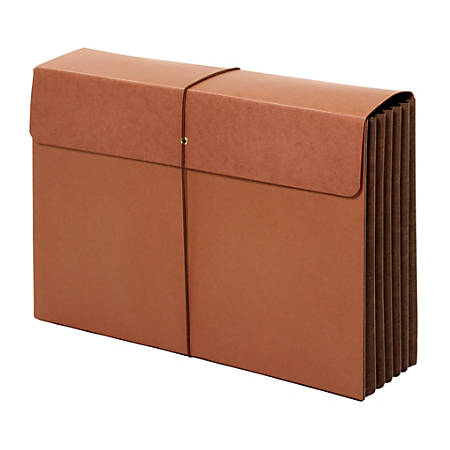 """Office Depot® Brand Extra-Wide Expanding Wallets With Flap, Legal Size, 5 1/4"""" Expansion, Brown, Pack Of 2 Wallets"""