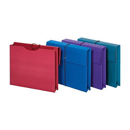 """Office Depot® Brand Expanding Paper Wallet, 2"""" Expansion, Letter Size, Assorted Colors, Pack Of 4"""