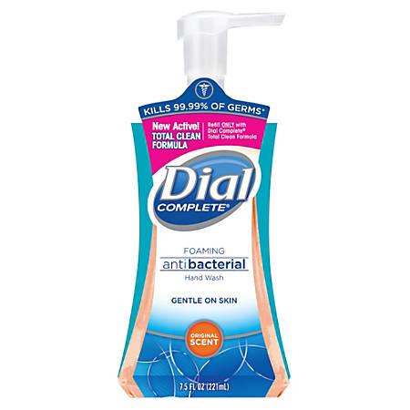 Dial Complete® Foaming Antibacterial Hand Wash, Original Scent, 7.5 Oz. Pump