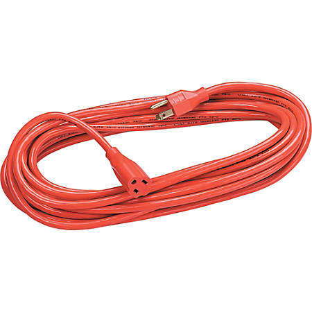 Fellowes Heavy Duty Indoor/Outdoor 50' Extension Cord - 125 V AC Voltage Rating - 13 A Current Rating - Gray