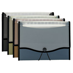 """Office Depot® Brand Clearview Expanding File, 2 1/2"""" Expansion, 13 Pockets, Letter Size, Assorted Colors"""