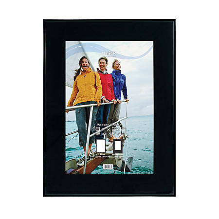 Uniek Gallery Poster Frame 18 x 24 Matted For 12 x 18 Black by ...