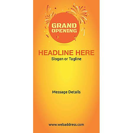 Custom Vertical Display Banner, Grand Opening