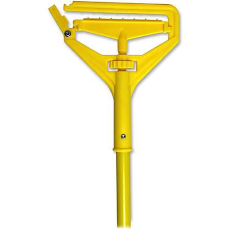 Genuine Joe Speed Change Mop Handle - Yellow - Fiberglass