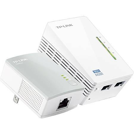 TP-Link® AV500 Wireless Wi-Fi Range Extender Powerline Edition Starter Kit, TL-WPA4220KIT