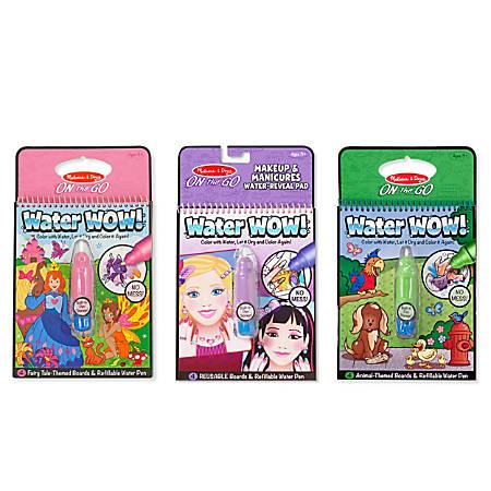 Melissa & Doug Water Wow! Bundle, Makeup And Manicures, Fairy Tale And Animals, Pre-K - Kindergarten