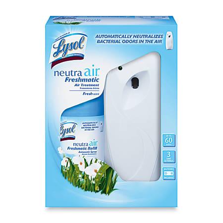 Lysol Neutra Air Freshmatic Starter Kit, Fresh Scent, 6.17 Oz, Case Of 4