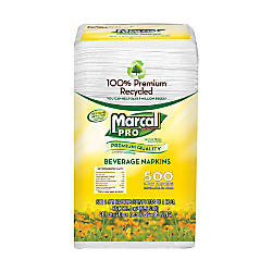Marcal Pro 1 Ply Beverage Napkins