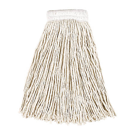 Rubbermaid® Cotton Cut-End Mop Heads, 24 Oz, White, Pack Of 12