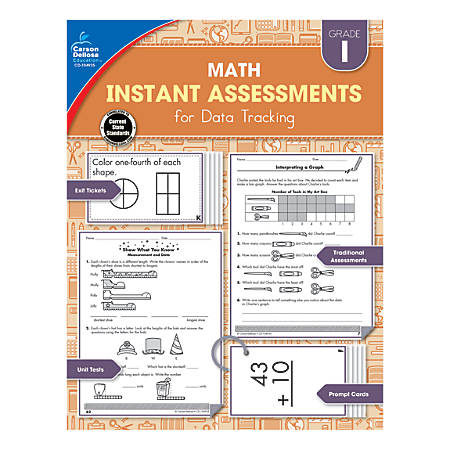 Carson-Dellosa Instant Assessments For Data Tracking Math Resource Book, Grade 1