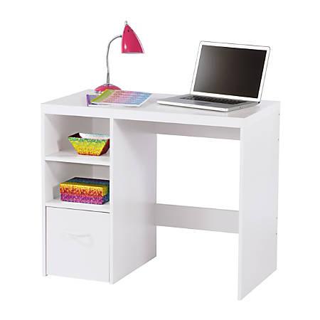 Brenton Studio Leslie Student Desk White by Office Depot & OfficeMax