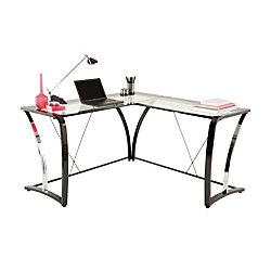 Brenton Studio Evanti Glass L Desk