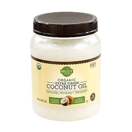 Wellsley Farm Organic Coconut Oil, Extra Virgin, 54 Oz Jar