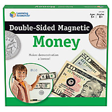 Learning Resources Double Sided Magnetic Money