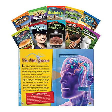 Teacher Created Materials TIME FOR KIDS® Nonfiction Book Set, Set 1, Set Of 10 Books, Grade 4