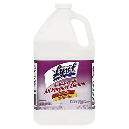 Lysol® All-Purpose Antibacterial Cleaner, Clear, 1 Gallon
