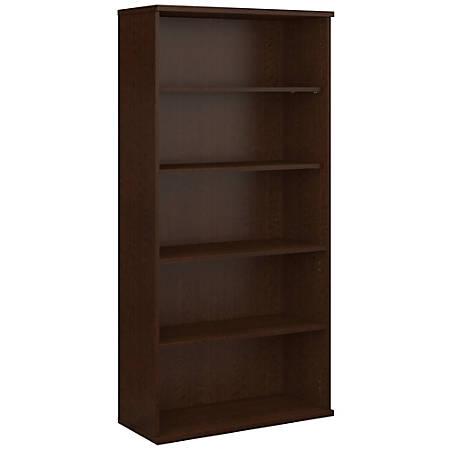 "Bush Business Furniture Components 5 Shelf Bookcase, 36""W, Mocha Cherry, Standard Delivery"