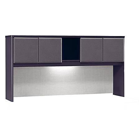 "Bush Business Furniture Office Advantage Hutch 72""W, Slate/Slate, Standard Delivery"