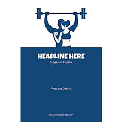 Custom Vertical Poster Weight Lifting