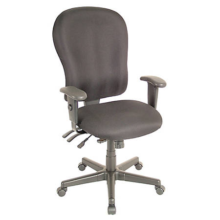 "Raynor® XL 4 x 4 Fabric Task Chair, 47""H x 29""W x 26""D, Black Frame, Black Fabric"