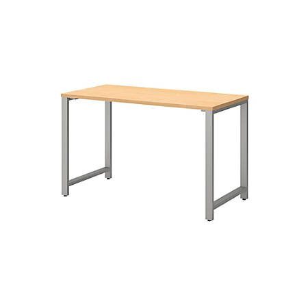 "Bush Business Furniture 400 Series Table Desks, 48""W x 24""D, Natural Maple, Premium Installation"