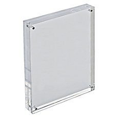 Azar Displays Acrylic VerticalHorizontal Block Frame