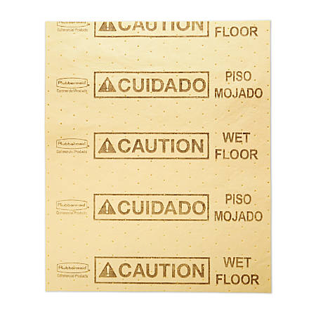 "Rubbermaid® Over The Spill Absorbent Pads, 16 1/2"" x 20"", Yellow, Pack Of 25 Pads"