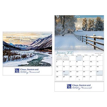 Scenes Across America Spiral Wall Calendar