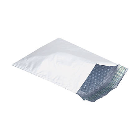 "Box Packaging Bubble Lined Poly Mailers, 4"" x 8"", Pack Of 500"