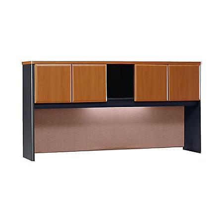 "Bush Business Furniture Office Advantage Hutch 72""W, Natural Cherry/Slate, Standard Delivery"