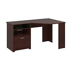 Bush Cabot Corner Desk Harvest Cherry
