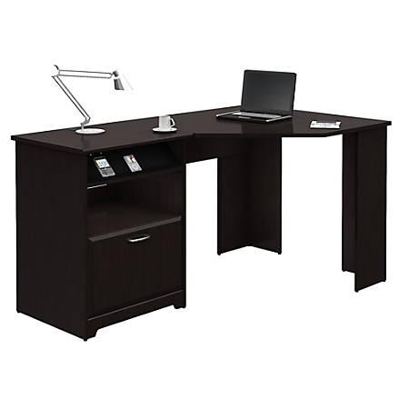Bush Cabot Corner Desk Espresso Oak