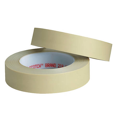 "3M™ 218 Masking Tape, 3"" Core, 0.5"" x 180', Green, Pack Of 72"
