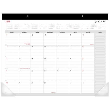 Office Depot Brand Monthly Desk Pad Calendar 22 X 17 30percent Recycled White January To December 2018 Od2026 00 18 By Officemax
