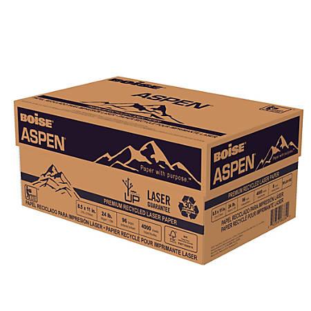 Boise® ASPEN® Premium Laser Paper, Letter Paper Size, 96 Brightness, 24 Lb, 30% Recycled, FSC® Certified, White, 500 Sheets Per Ream, Case Of 8 Reams