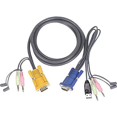 IOGEAR Multimedia USB KVM Cable - 10ft