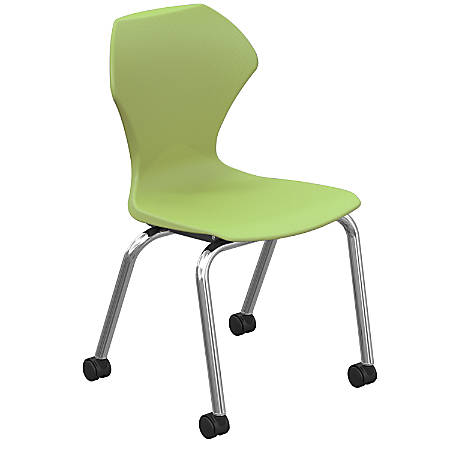 Marco Group™ Apex™ Apex Mobile Stack Chairs, Apple/Chrome, Pack Of 2
