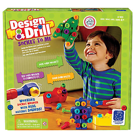 Educational Insights® Design & Drill® Socket To Me™ Set, Pre-K