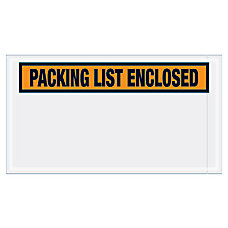 B O X Packaging Packing List