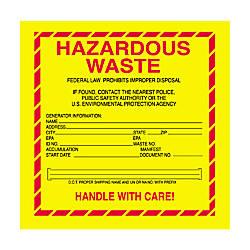 Tape Logic Hazardous Waste Shipping Labels