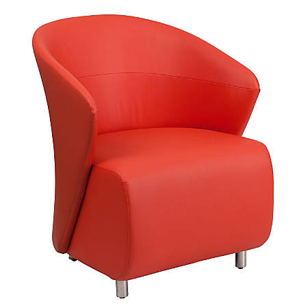 Flash Furniture Leathersoft Reception Chair, Red