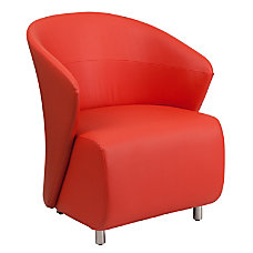 Flash Furniture Leather Reception Chair Red