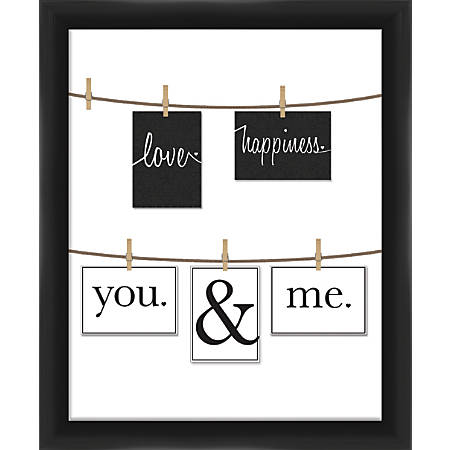 "PTM Images Photo Frame, You And Me, 22 3/4""H x 1 5/8""W x 24 3/4""D, Black/White"