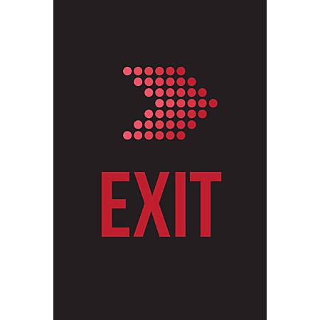 Custom Floor Decal Template, FDV Exit Arrow