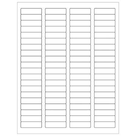 """Office Depot® Brand Inkjet/Laser Labels, LL109MC, Rectangular, 1 3/4"""" x 1/2"""", White, Master Case Of 80,000"""