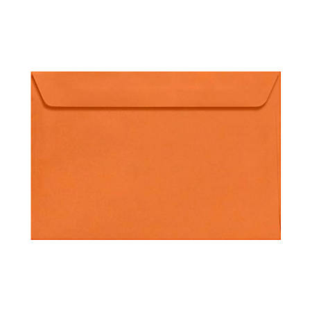"LUX Booklet Envelopes With Moisture Closure, 6"" x 9"", Mandarin Orange, Pack Of 1,000"