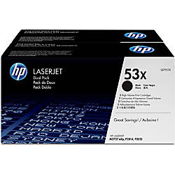 HP 53X Black Original Toner Cartridges