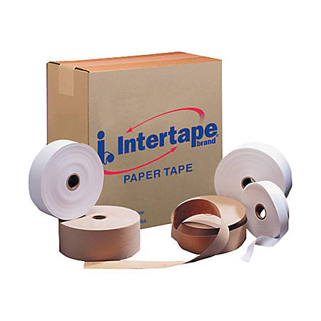intertape convoy gso light paper tape 1 x 500 white pack of 20 by office depot officemax. Black Bedroom Furniture Sets. Home Design Ideas